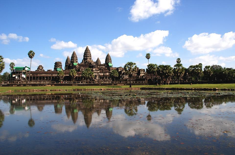 Angkor Wat at its absolute best, reflected in the moat.