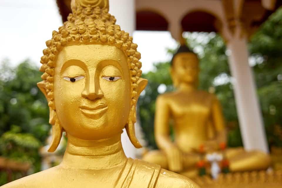 Buddhas in Laos.