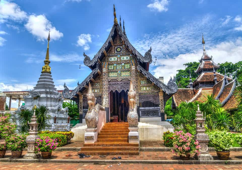 A temple in Chiang Mai the Digital Nomad Mecca.