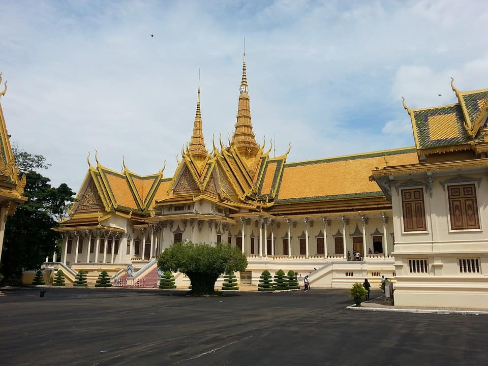 Can't stay here, this is the Royal Palace in Phnom Penh.