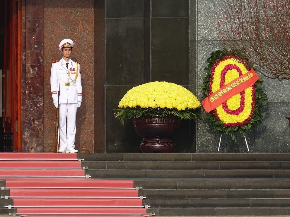 A Vietnamese guard.