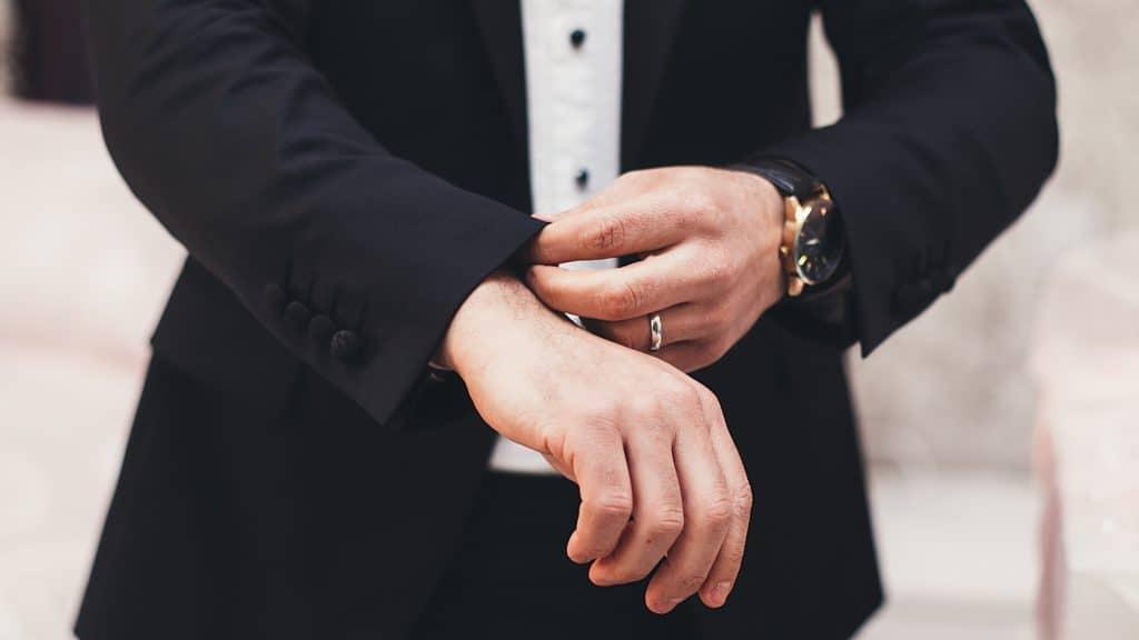 A businessman in a suit to symbolize success