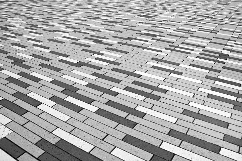 It's a visual pun. It's a bunch of grey bricks representing an area. We didn't say it was a good pun, did we?